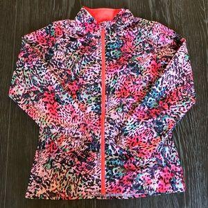 Girls Adidas Windbreaker Animal Print Medium 10-12